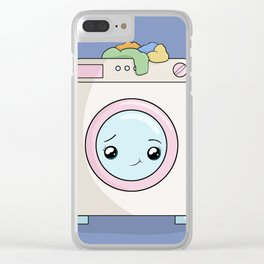 Kawaii Washing machine Clear iPhone Case