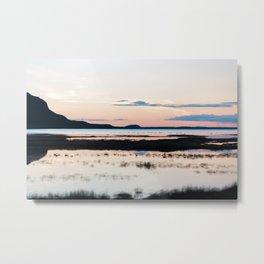 Sunset in Iceland - nature landscape Metal Print