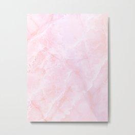 Sugar Pink Marble Metal Print
