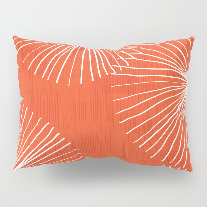 Dandelions in Red by Friztin Pillow Sham