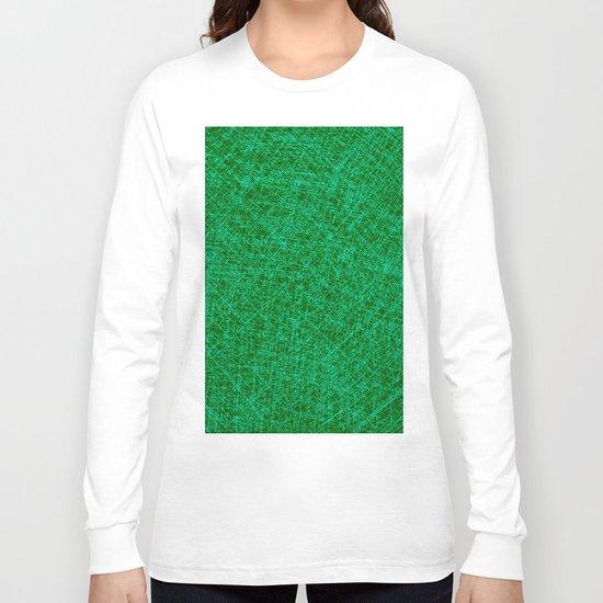 Scratched Green Long Sleeve T-shirt