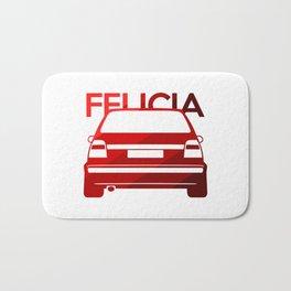Skoda Felicia - classic red - Bath Mat
