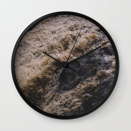 Falling Water on the Black River Wall Clock