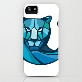 Cheetah Head Low Polygon Style iPhone Case