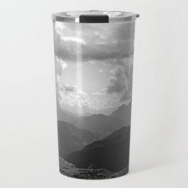 Mountain Ridges and Clouds Alps Alpine Landscape Travel Mug