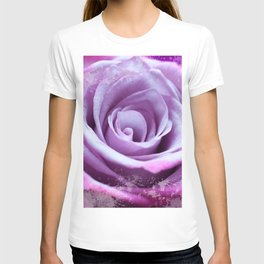 Rose of Love #Pink #Purple #art #society6 T-shirt