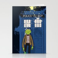 kermit Stationery Cards featuring Doctor Who Kermit by Roe Mesquita