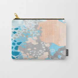 Sheyn - Modern abstract print in summer colors fresh beach design abstract painting decor Carry-All Pouch