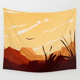 West Texas Landscape Wall Tapestry