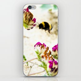 the flight of bumble bee on the dunes I iPhone Skin