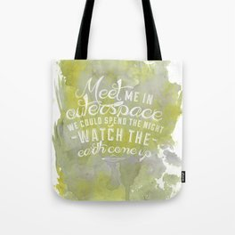 LYRICS - Meet me in outerspace - COLOR Tote Bag
