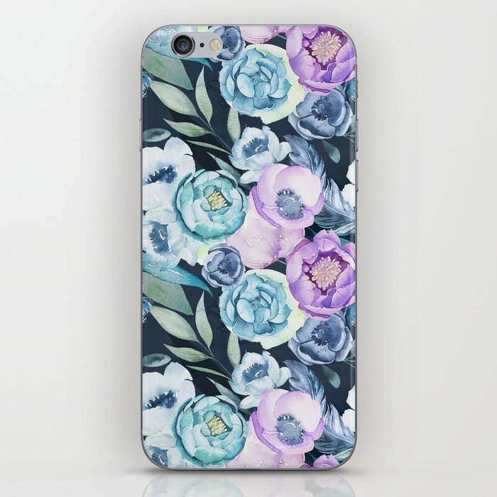 Dark Floral Spring iPhone Skin