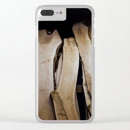 Wood Slabs Clear iPhone Case