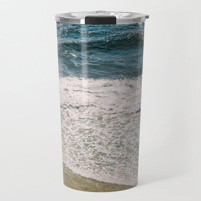 Flowers meet the Sea Travel Mug