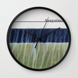 Saugatuck Waterline Project Wall Clock