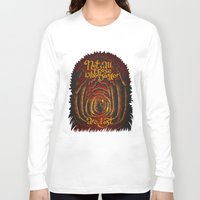 aragorn Long Sleeve T-shirts featuring Those Who Wander by Aliona Nemitkova