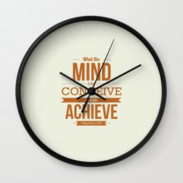 Lab No. 4 - It can Achieve Napoleon Hill Inspirational Quotes Poster Wall Clock