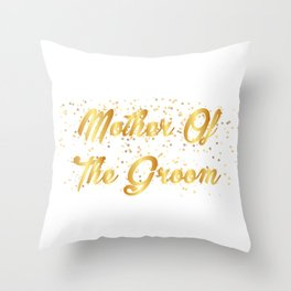 Mother Of The Groom Wedding Party Throw Pillow