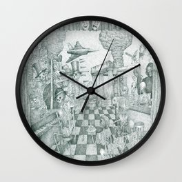 Don't Worry Be Happy 3 (Who Forgets The Past Is Condemned To Repeat It) Wall Clock
