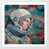 interstellar Art Prints featuring Interstellar by Hector Trunnec
