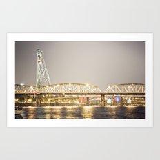 Hawthorne Bridge, Portland Oregon Art Print