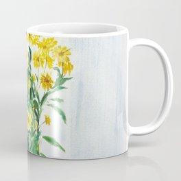 sun choke flowers outside a house Coffee Mug