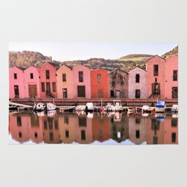 an old tannery at the riverside Rug