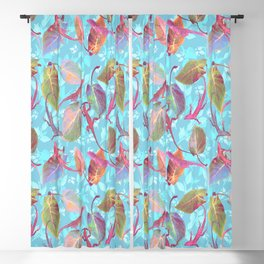 Lizards and More Leaves Blackout Curtain