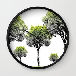 Rooted Sound V (clarinet) Wall Clock