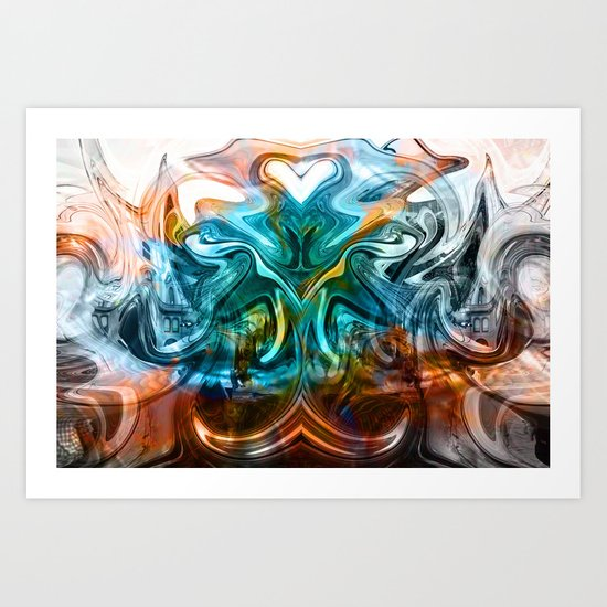 liquified time Art Print