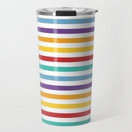 Modern geometrical colorful rainbow stripes Travel Mug