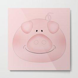 Pink piggy. Metal Print