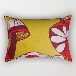 mushrooms and flowers Rectangular Pillow