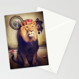 The royal lion Stationery Cards