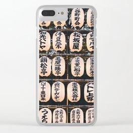 Japanese Lanterns Clear iPhone Case