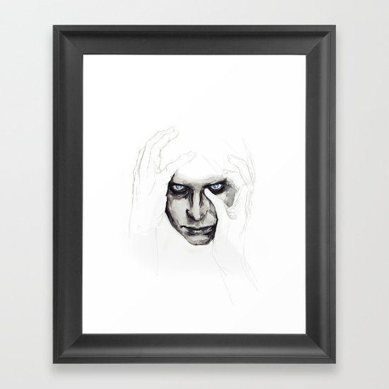 detail insomnia Framed Art Print