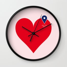 You are here  #valentinesgiftideas #homedecor #love Wall Clock