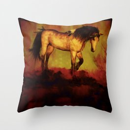HORSE - Choctaw ridge Throw Pillow