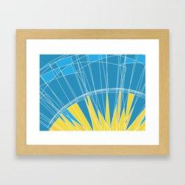 Abstract pattern, digital sunrise illustration Framed Art Print
