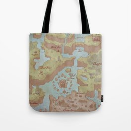 Super Mario World Map (Vintage Style) Tote Bag