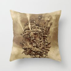Moving Castle Throw Pillow