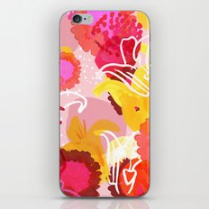 Painted flowers iPhone & iPod Skin
