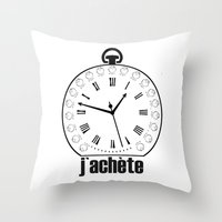 watch Throw Pillows featuring Watch by antonio&marko