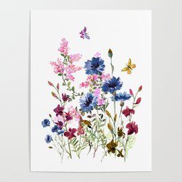 Wildflowers IV Poster