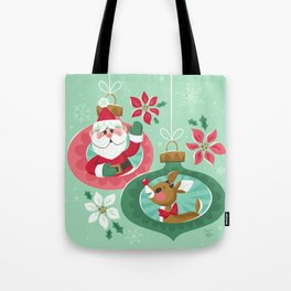 Merry Christmas from Santa & Rudolph Tote Bag