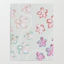Pink Flower Trail Poster