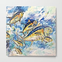Golden Tuna Metal Print