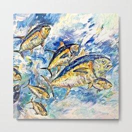 Golden Tuna Metal Print