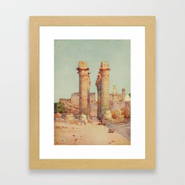 Cane, Ella du (1874-1943) - The Banks of the Nile 1913, The Shoe Bazaar, The Colonnade at the Te Framed Art Print