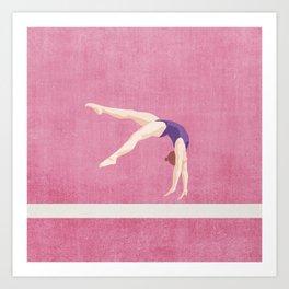 SUMMER GAMES / artistic gymnastics Art Print